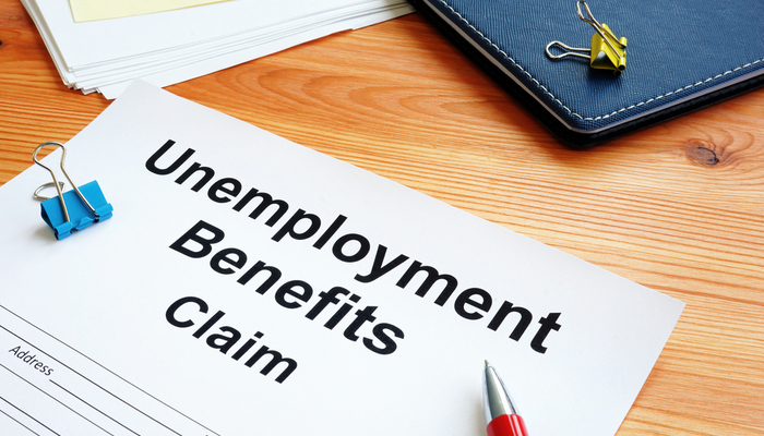 A new low in employment figures from the weekly jobless claims