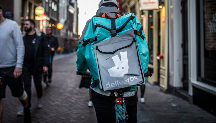 Deliveroo got a boost from Delivery Hero